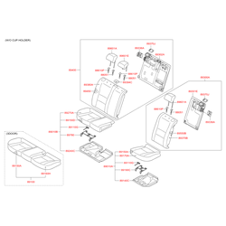 Чехол подушки сиденья (Hyundai-KIA) 89160A6110SGF