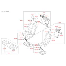 Чехол подушки сиденья (Hyundai-KIA) 89460A6110SGF