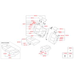 Чехол подушки сиденья (Hyundai-KIA) 891602R010FCC