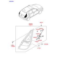 Фара задняя в сборе (Hyundai-KIA) 924012R010