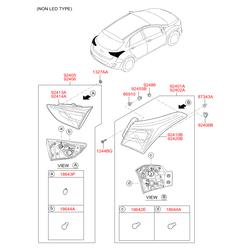 Фонарь (Hyundai-KIA) 92401A6200