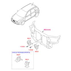 Звуковой сигнал (Hyundai-KIA) 966212R000