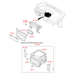 Автомагнитола с cd-проигрывателем (Hyundai-KIA) 96164A6500