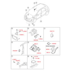 Выключатель автомагнитолы (Hyundai-KIA) 972533XAF0