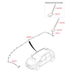 Штыревая антенна автомагнитолы (Hyundai-KIA) 96210A6200