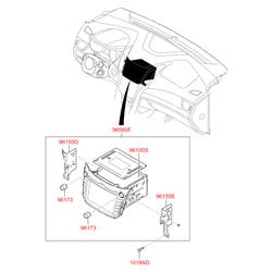 Автомагнитола с cd-проигрывателем (Hyundai-KIA) 96164A6000
