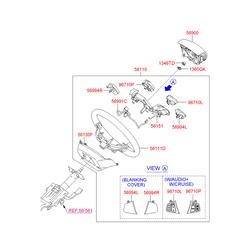 Выключатель автомагнитолы (Hyundai-KIA) 967002R3504X