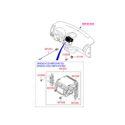 Автомагнитола с cd-проигрывателем (Hyundai-KIA) 961602L2004X