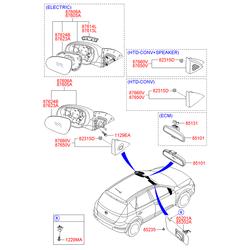Динамик двери, 12вт (Hyundai-KIA) 876602L0104X