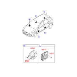 Динамик двери, 40вт (Hyundai-KIA) 963302H000