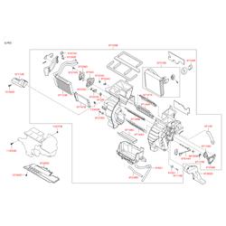 Мотор отопителя (Hyundai-KIA) 971131H000