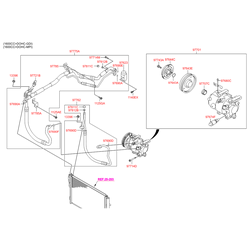 Шкив компрессора кондиционера (Hyundai-KIA) 97643A5900