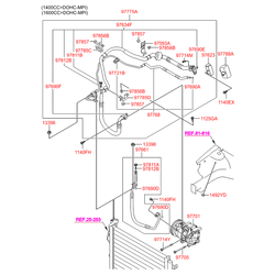 Шкив компрессора кондиционера (Hyundai-KIA) 976432H040