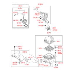 Воздушный фильтр двигателя (Hyundai-KIA) 281102H200
