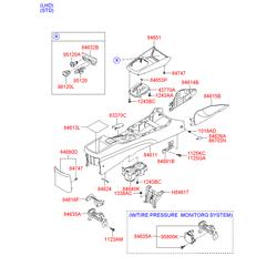 Напольная консоль салона (Hyundai-KIA) 846112R100XP