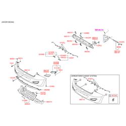 Датчик парковки ультразвуковой (Hyundai-KIA) 95720A6100P5N