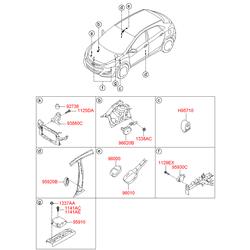 Камера заднего вида, не записывающая (Hyundai-KIA) 95760A5030TWR
