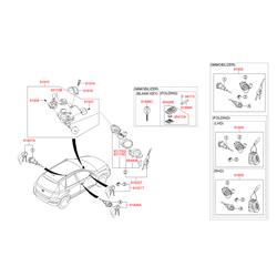 Замок в комплекте (с 2-мя ключами) (Hyundai-KIA) 819052R000