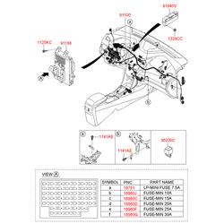Монтажный блок реле и предохранителей (Hyundai-KIA) 91950A6031