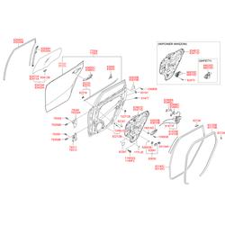 Дверь задняя левая (Hyundai-KIA) 770032R010