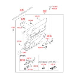 Выключатель стеклоподъемника стекла двери (Hyundai-KIA) 935702L010