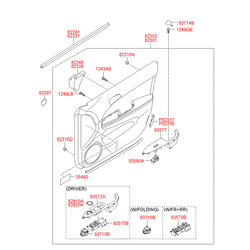 Выключатель стеклоподъемника стекла двери (Hyundai-KIA) 935752L011