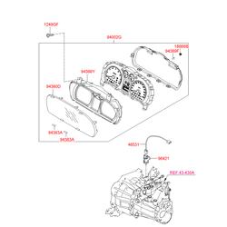Щиток приборов (Hyundai-KIA) 940332R065
