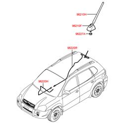 Антенна механическая (шток) (Hyundai-KIA) 962632E000