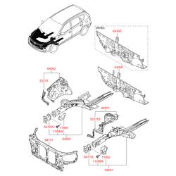 Рамка радиатора (Hyundai-KIA) 641012L000