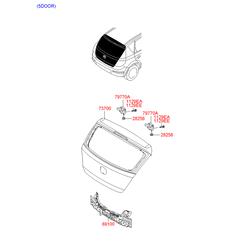 Крышка багажника (Hyundai-KIA) 737002L011