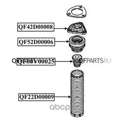 Подшипник опоры амортизатора (QUATTRO FRENI) QF52D00006