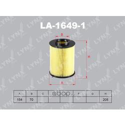 Фильтр воздушный (LYNXauto) LA16491