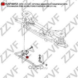 Втулка заднего стабилизатора d16 (ZZVF) ZV168TZ
