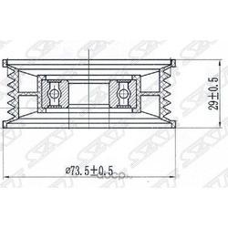 Ролик натяжителя приводного ремня (Sat) ST1450947