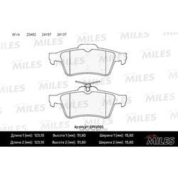 Колодки тормозные задние (без датчика) (Miles) E410005