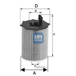 Фильтр масляный (UFI) 2503700
