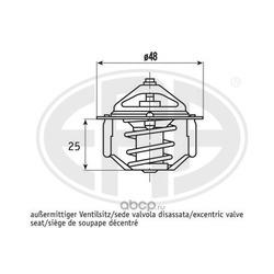 Термостат, охлаждающая жидкость (Era) 350407