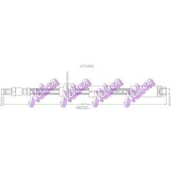Тормозной шланг (KAWE) H7090Q
