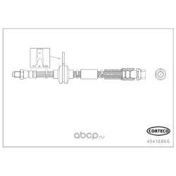 Тормозной шланг (Corteco) 49418866