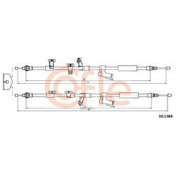 Трос, стояночная тормозная система (Cofle) 105384