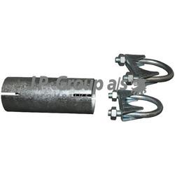 Соединительная труба глушителя (48x90mm) (JP Group) 1521400200
