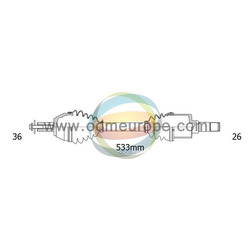 Приводной вал в сборе (ODM-MULTIPARTS) R18151060