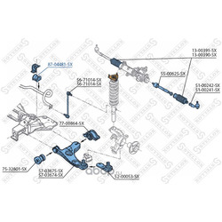 Втулка стабилизатора переднего центральная d18 (Stellox) 8704481SX
