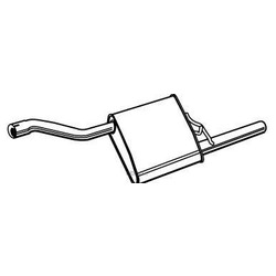 Глушитель выхлопных газов конечный (Walker) 71001
