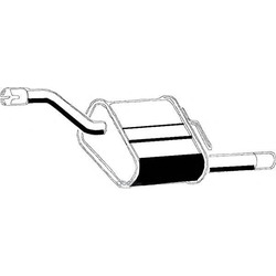 Глушитель выхлопных газов конечный (ASMET) 07136