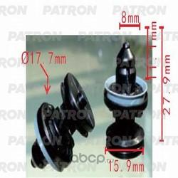 Клипса пластмассовая (PATRON) P370247
