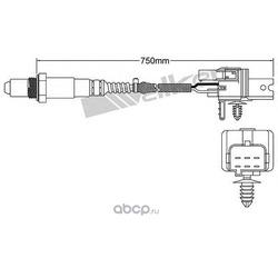 Лямбда-зонд (WALKER PRODUCTS) 25025079