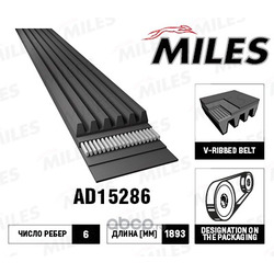 Ремень поликлиновой (Miles) AD15286