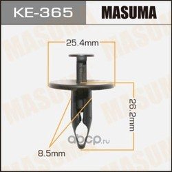 Клипса (пластиковая крепежная деталь) (Masuma) KE365