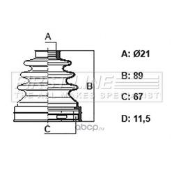 Пыльник, приводной вал (First line) FCB6402